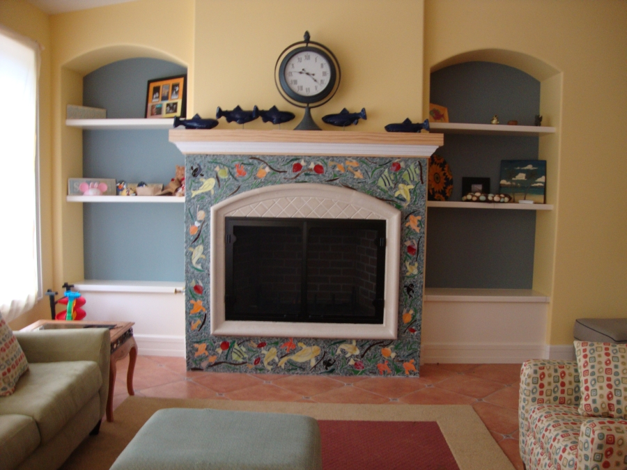 Fireplace Mosaic By Heather Anderson